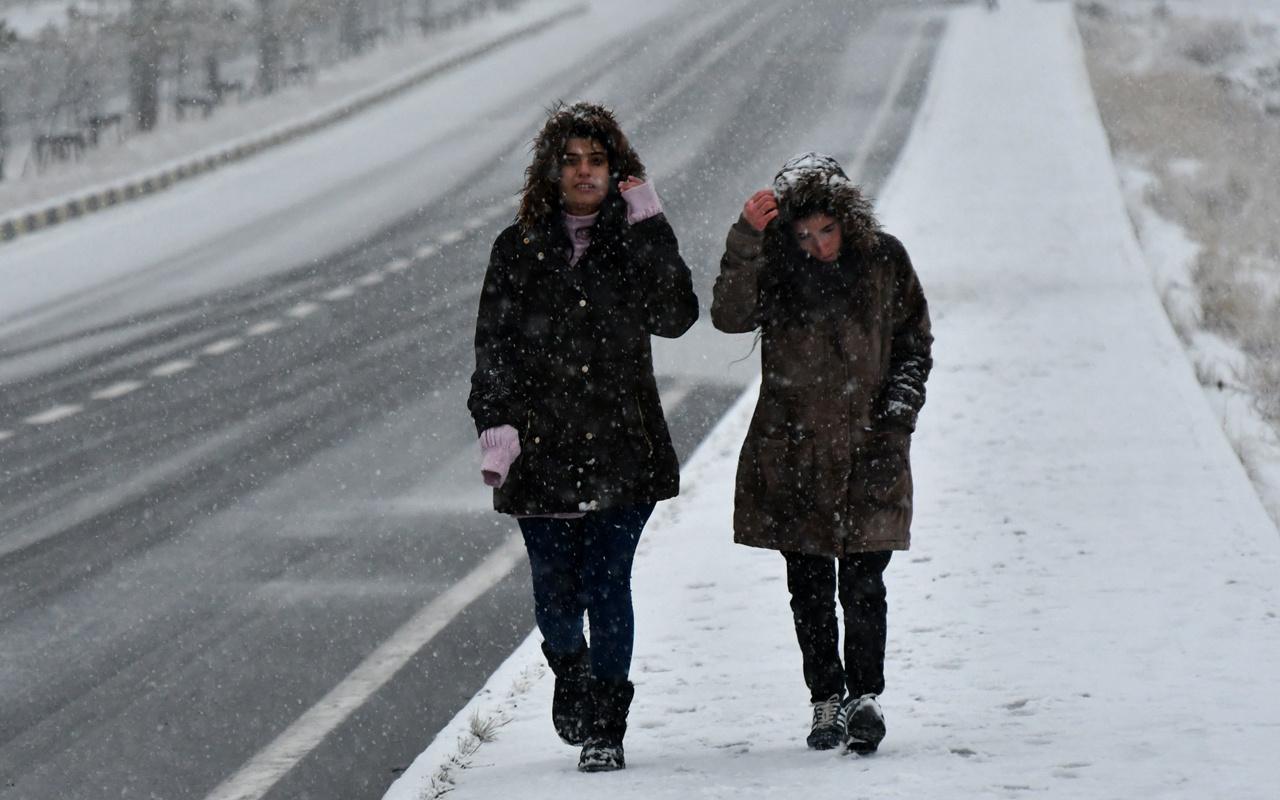 Tokat haritalı hava durumu kar başladı akşama dikkat