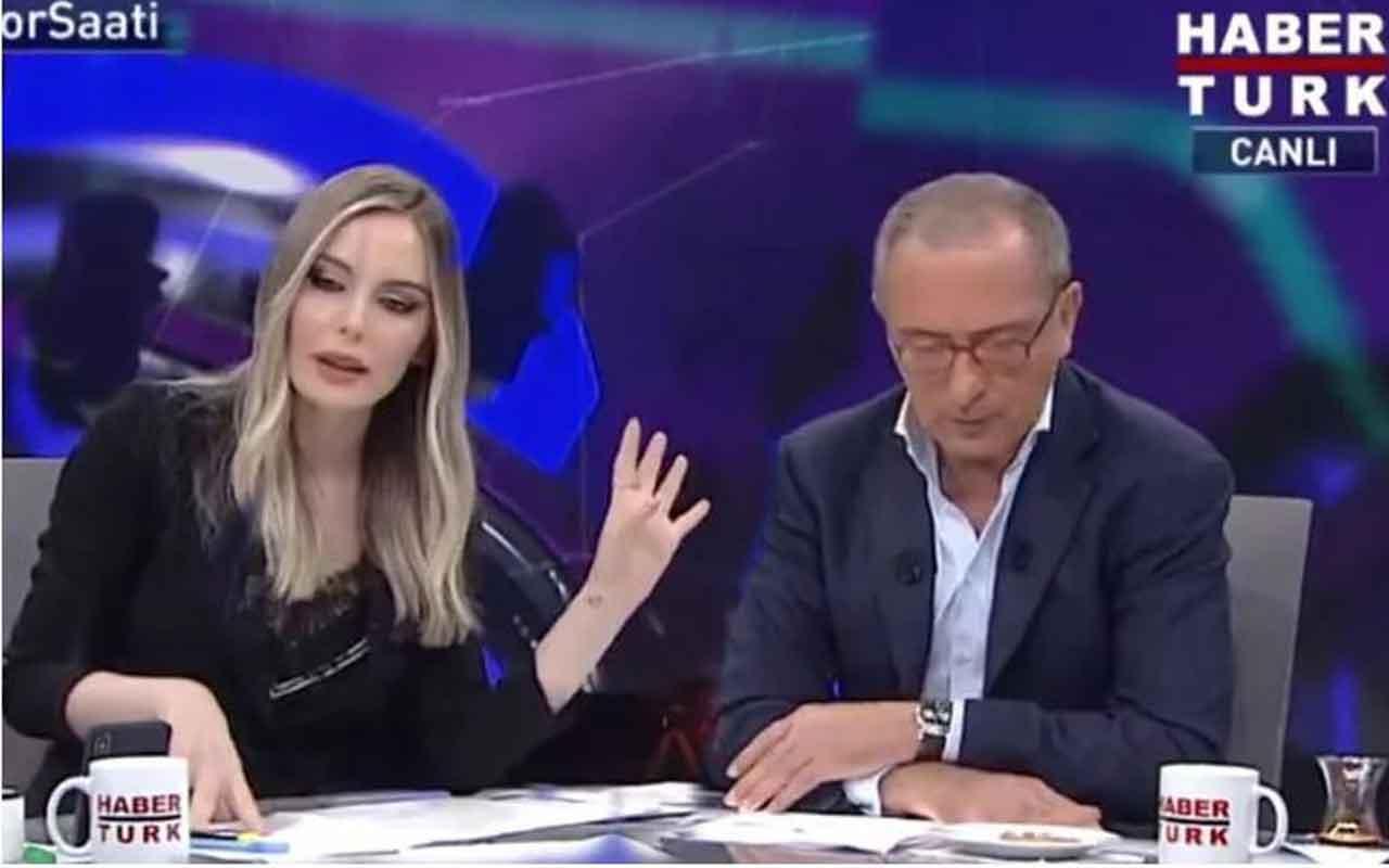 Hande Sarıoğlu'nun Emre Belözoğlu sorusu Fatih Altaylı'yı kızdırdı yayını terk etti