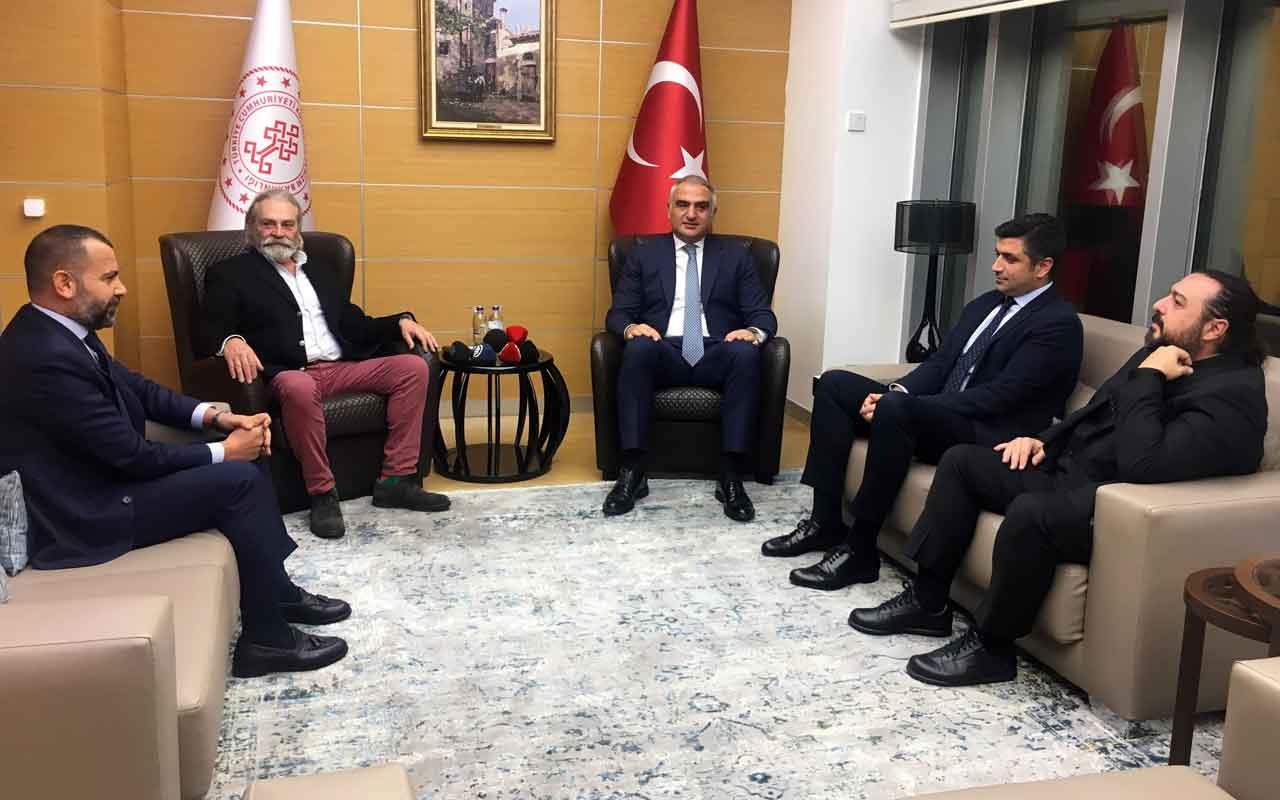 Kültür ve Turizm Bakanı Ersoy Emmy Ödüllü Haluk Bilginer'i tebrik etti