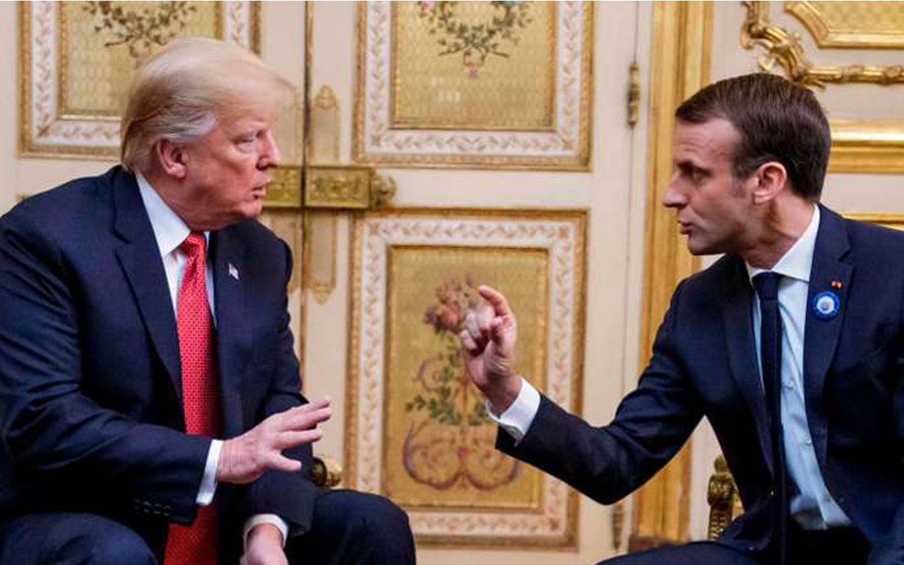 ABD Başkanı Donald Trump'ın sorusuna Emmanuel Macron'dan 'ciddi olalım' yanıtı