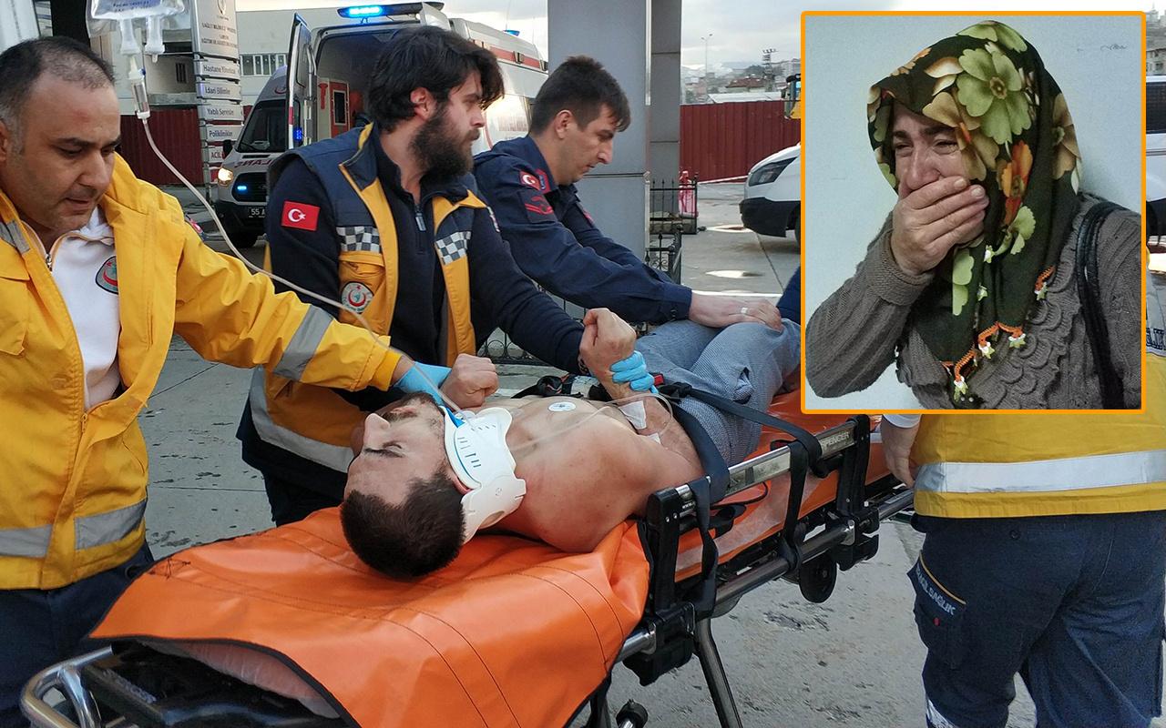 Samsun'da kendini asan genci ölümden annesi kurtardı