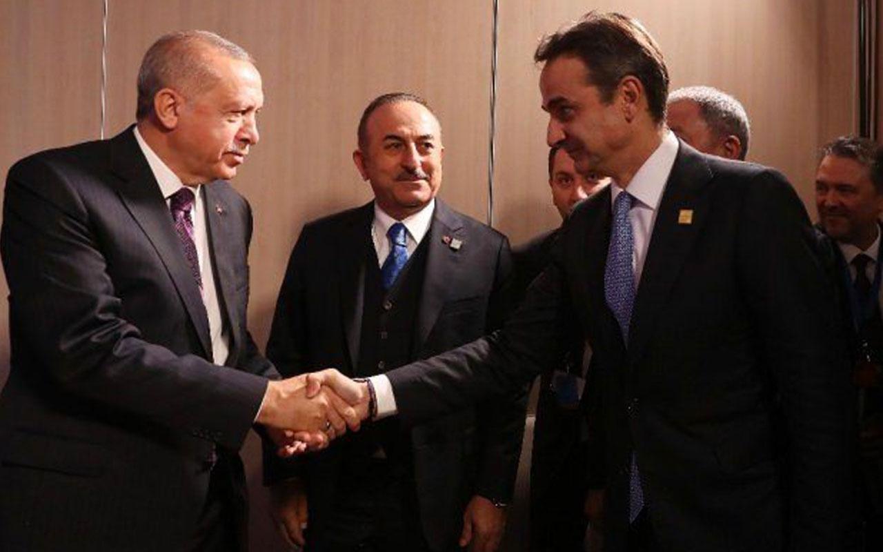 Erdoğan ile görüşen Yunan Başbakanı Miçotakis'ten flaş açıklama