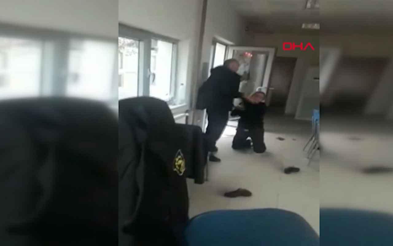 Samsun'da güvenlik müdürü kapıyı açmayan 2 kadın görevliye saldırdı