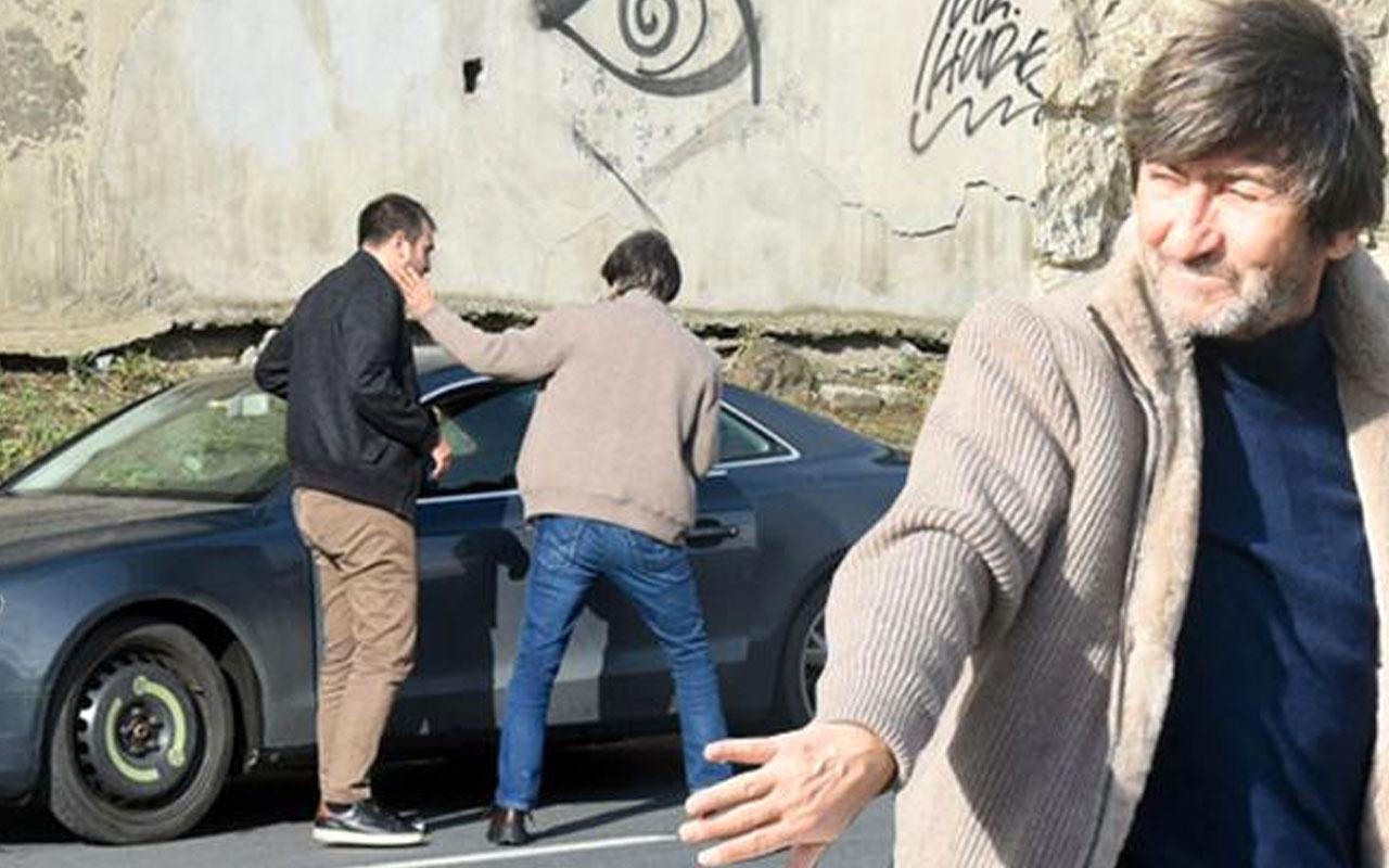 Rıdvan Dilmen'in zor anları! İmdadına oğlu yetişti