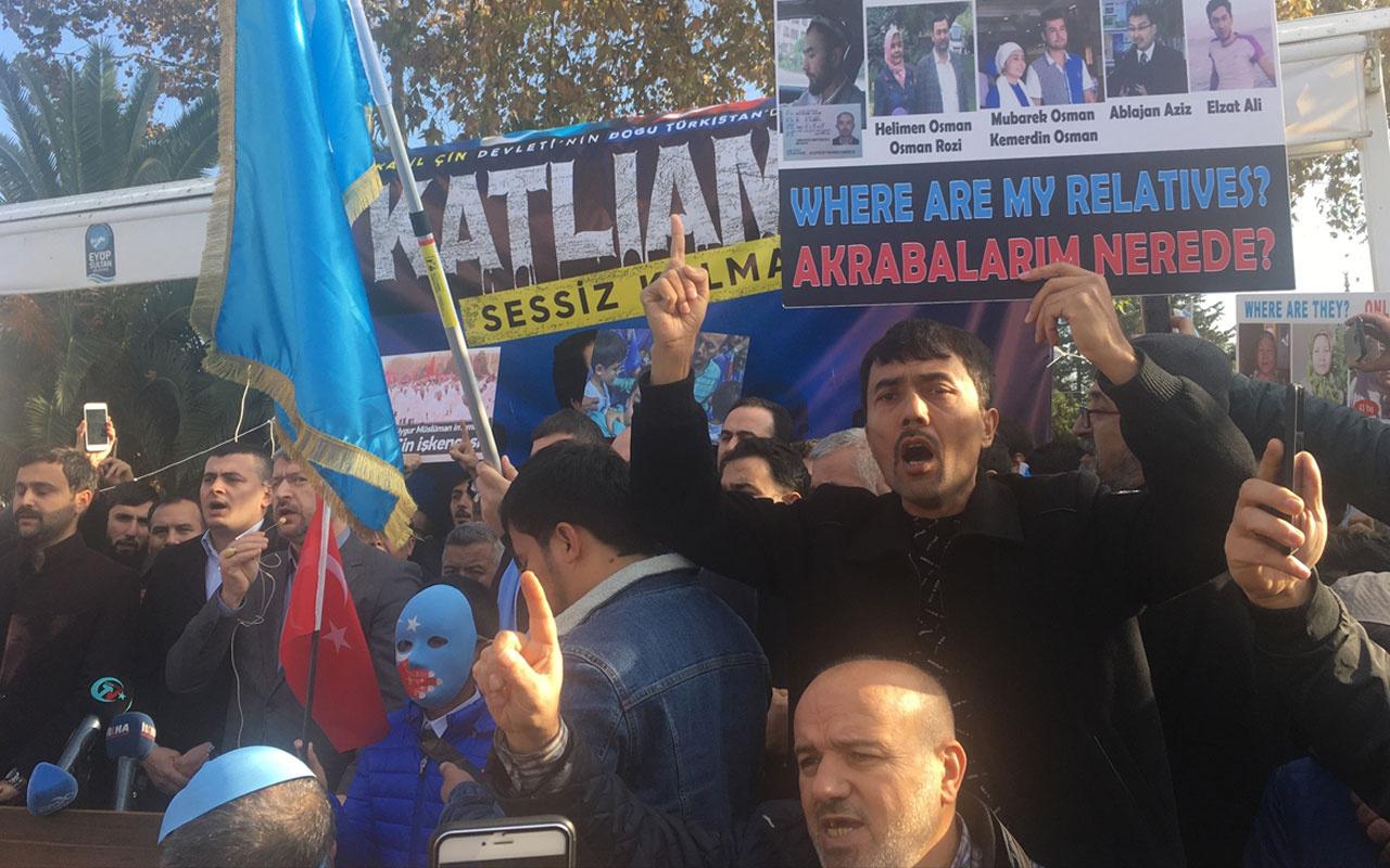 İstanbul'da Çin'in Doğu Türkistan politikaları protesto edildi