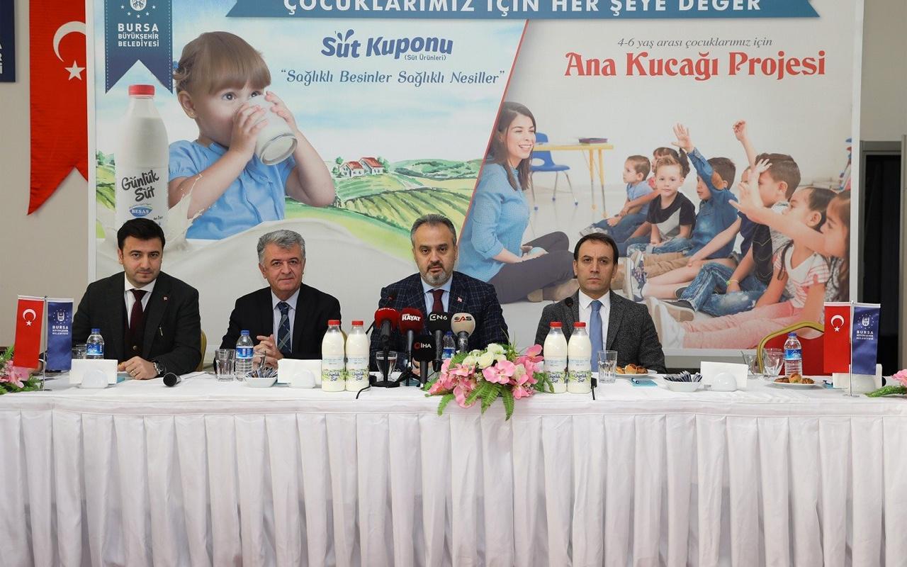Bursa'da çocuklara ücretsiz süt dağıtılacak Başkan Alinur Aktaş projeleri tanıttı