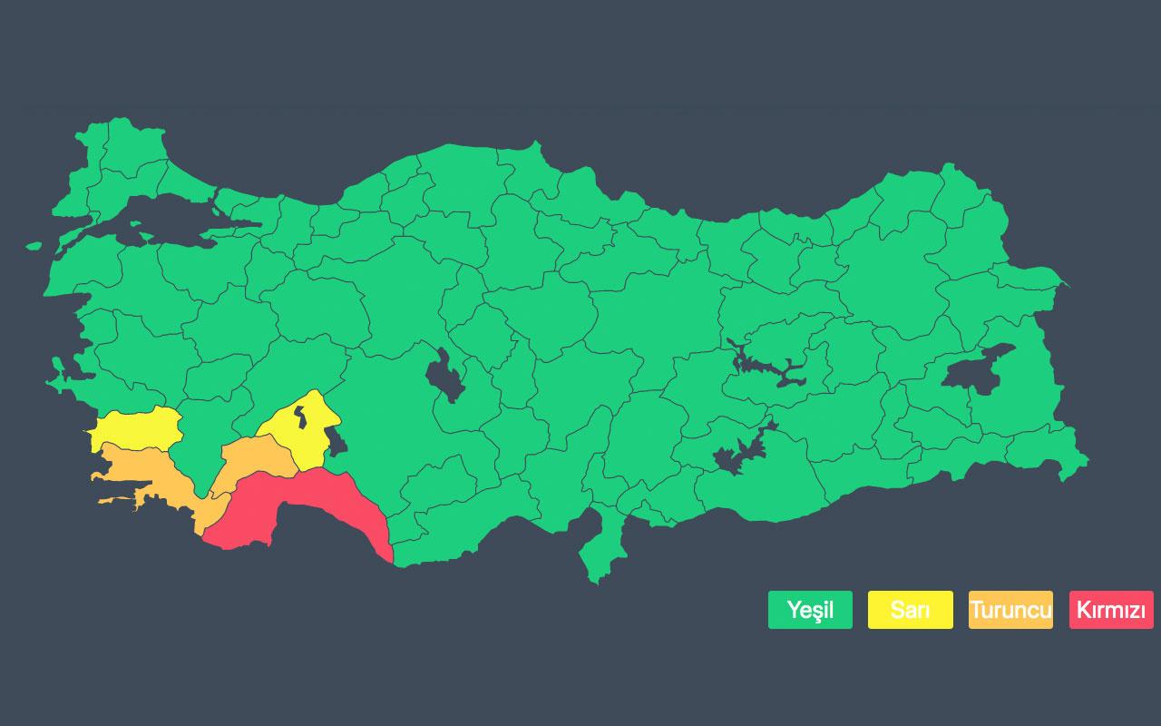 Antalya için meteoroloji kırmızı alarm verdi! Kırmızı alarm ne demek?