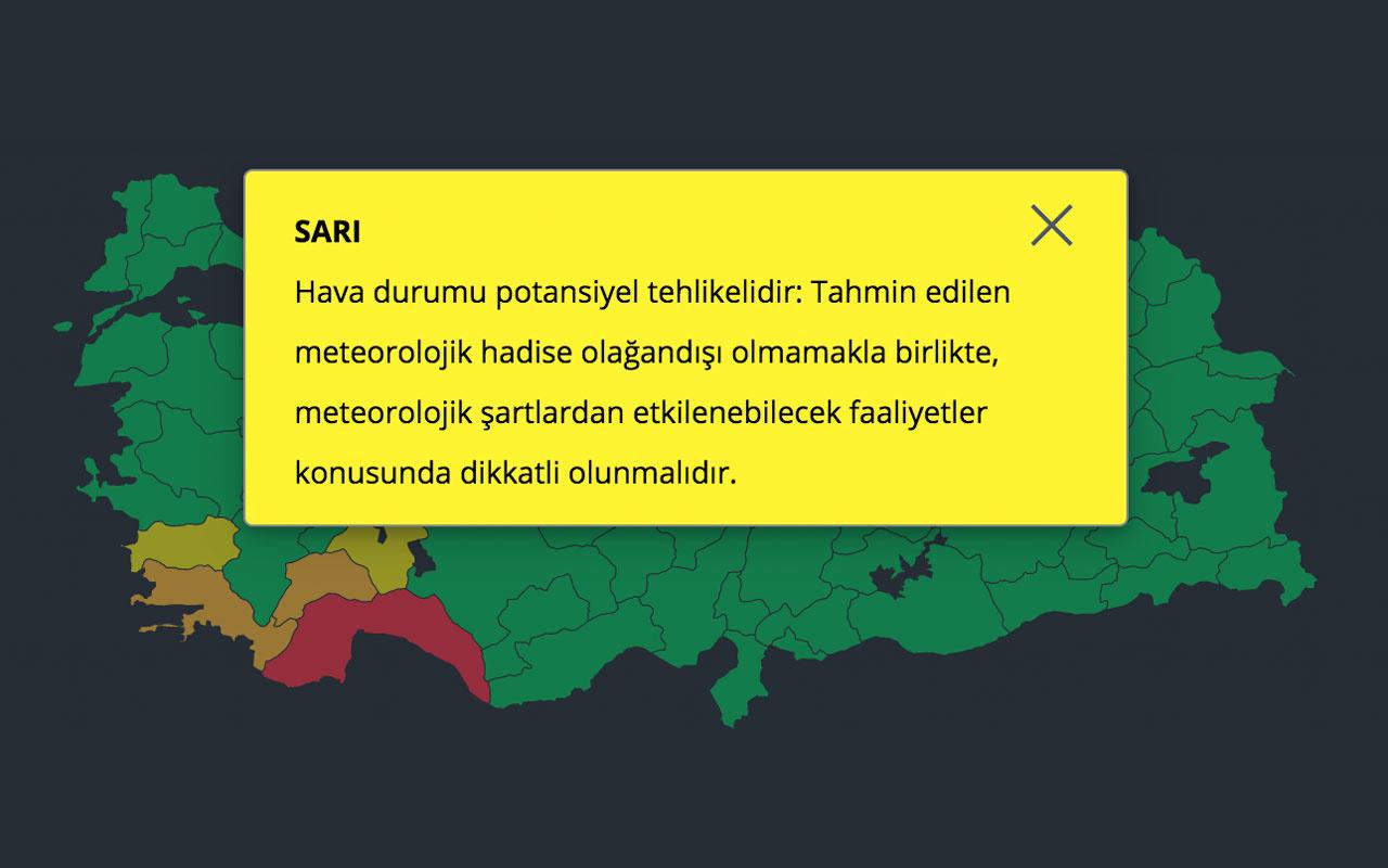 Meteoroloji sarı alarmı ne demek? Aydın ve Isparta için sarı alarm verdi