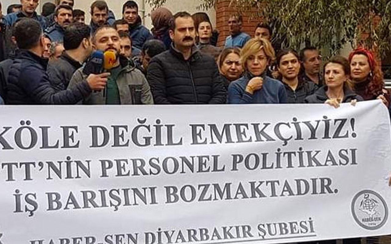 Diyarbakır'da PTT çalışanları eylemde