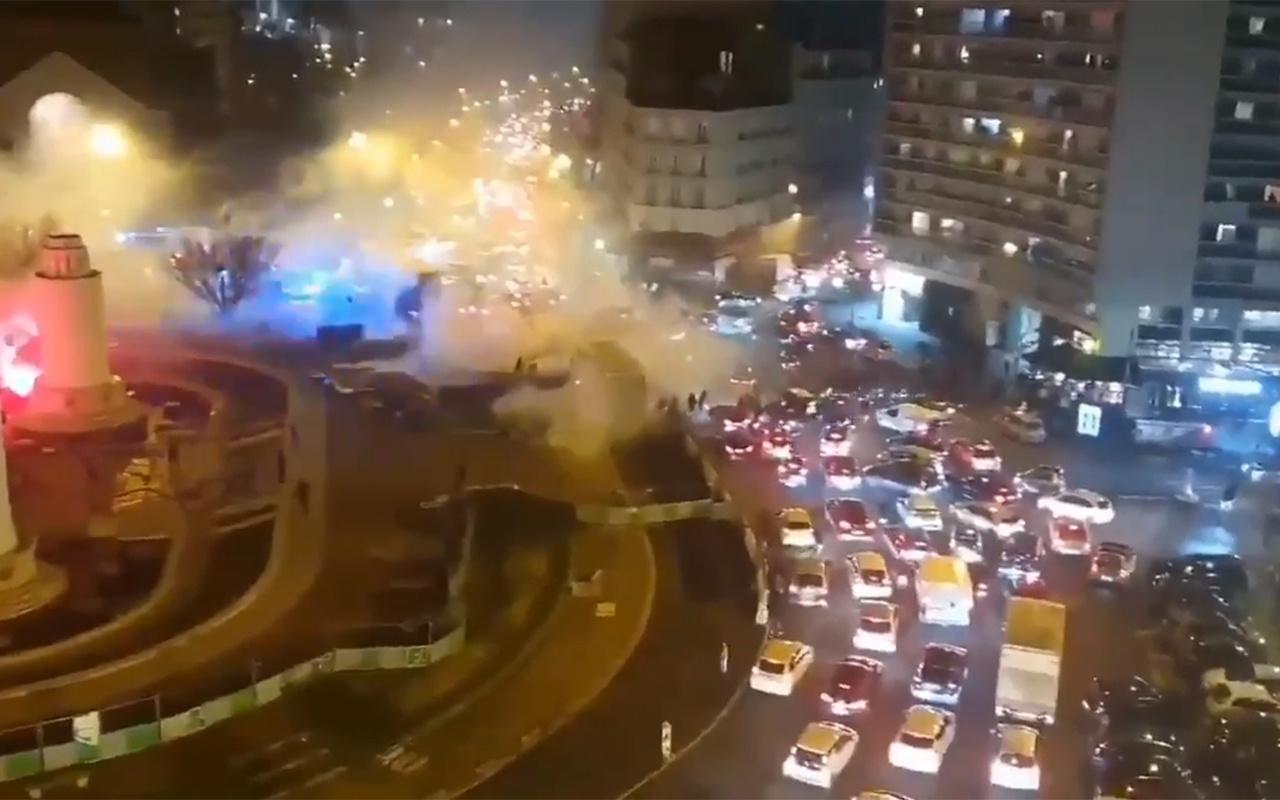 PSG'lilerden maç öncesi Galatasaray taraftarına çirkin saldırı