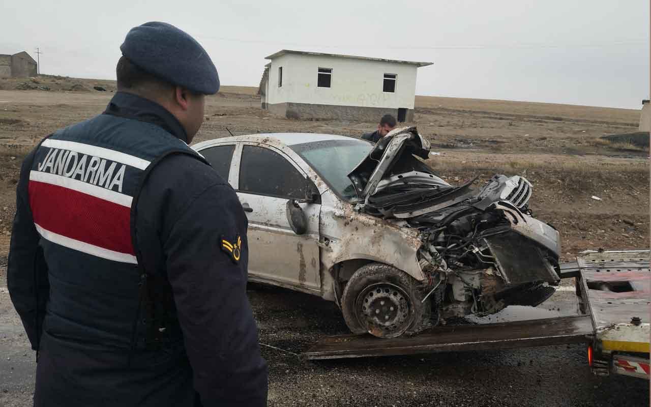 Aksaray'da otomobil takla attı: 2 yaralı