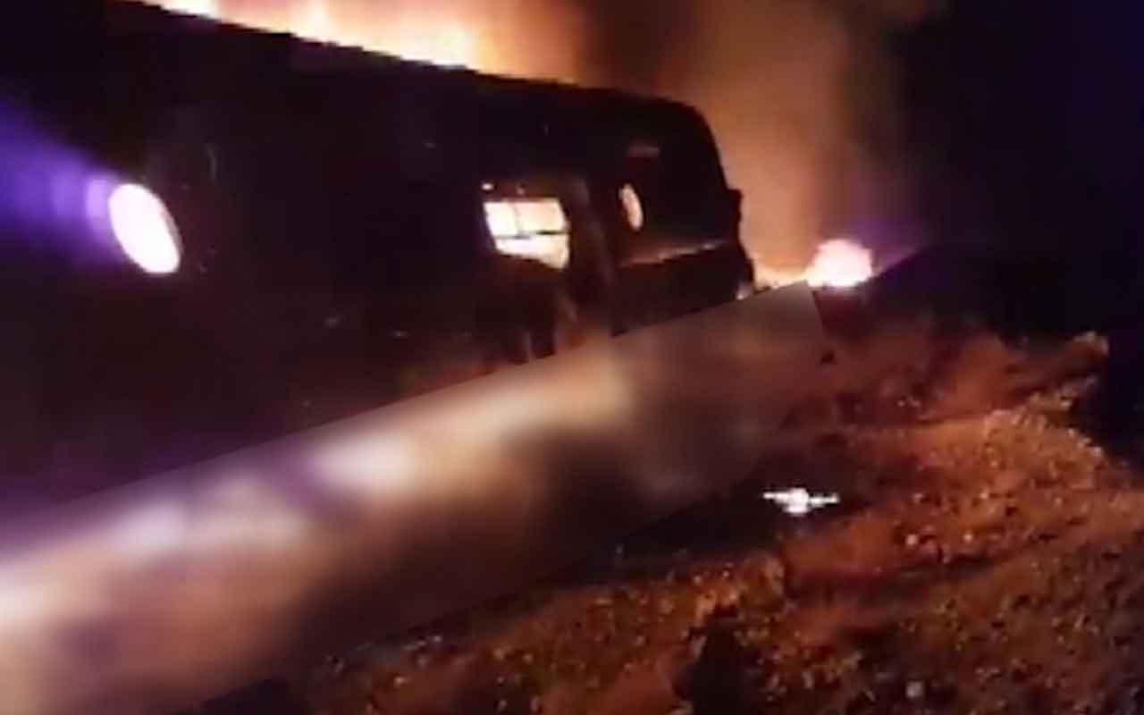 Pakistan'da yolcu otobüsü kaza sonrası alev aldı 15 ölü