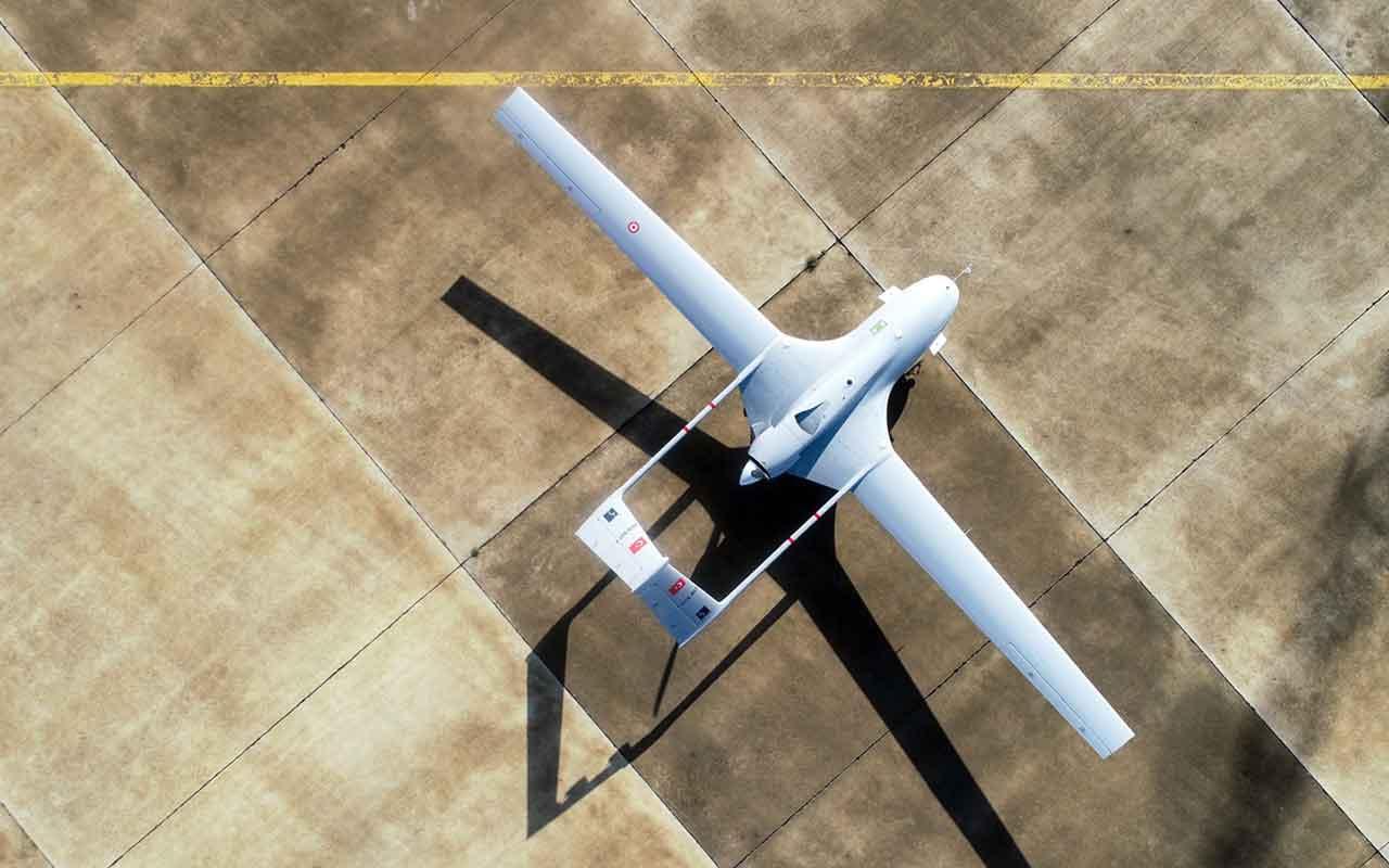 KKTC Geçitkale Havalimanı'na inen İHA'nın drone görüntüleri
