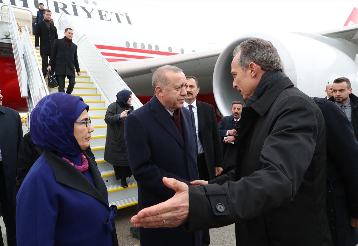 İsviçre'de yaşayan Türklerden Cumhurbaşkanı Erdoğan'a coşkulu karşılama