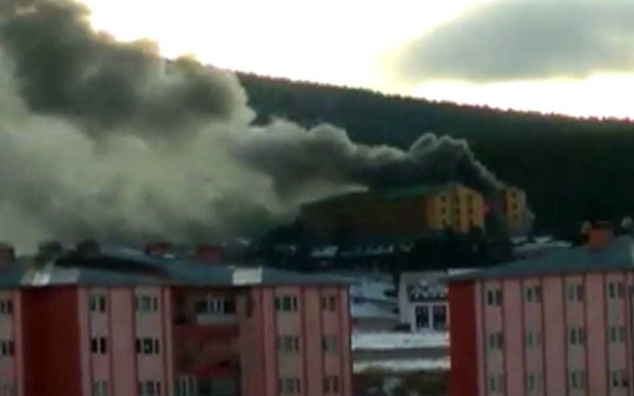 Sarıkamış kayak merkezinde yangın
