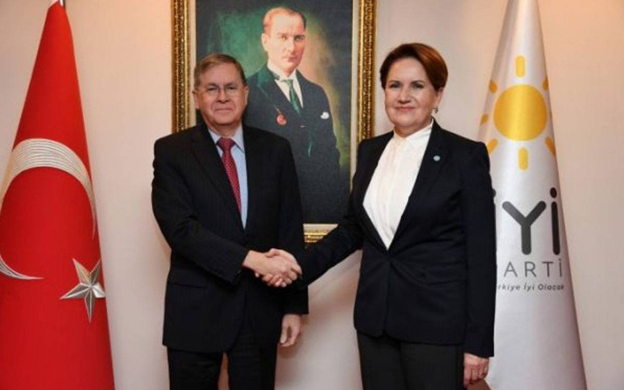 ABD Büyükelçisi, Akşener'i ziyaret etti