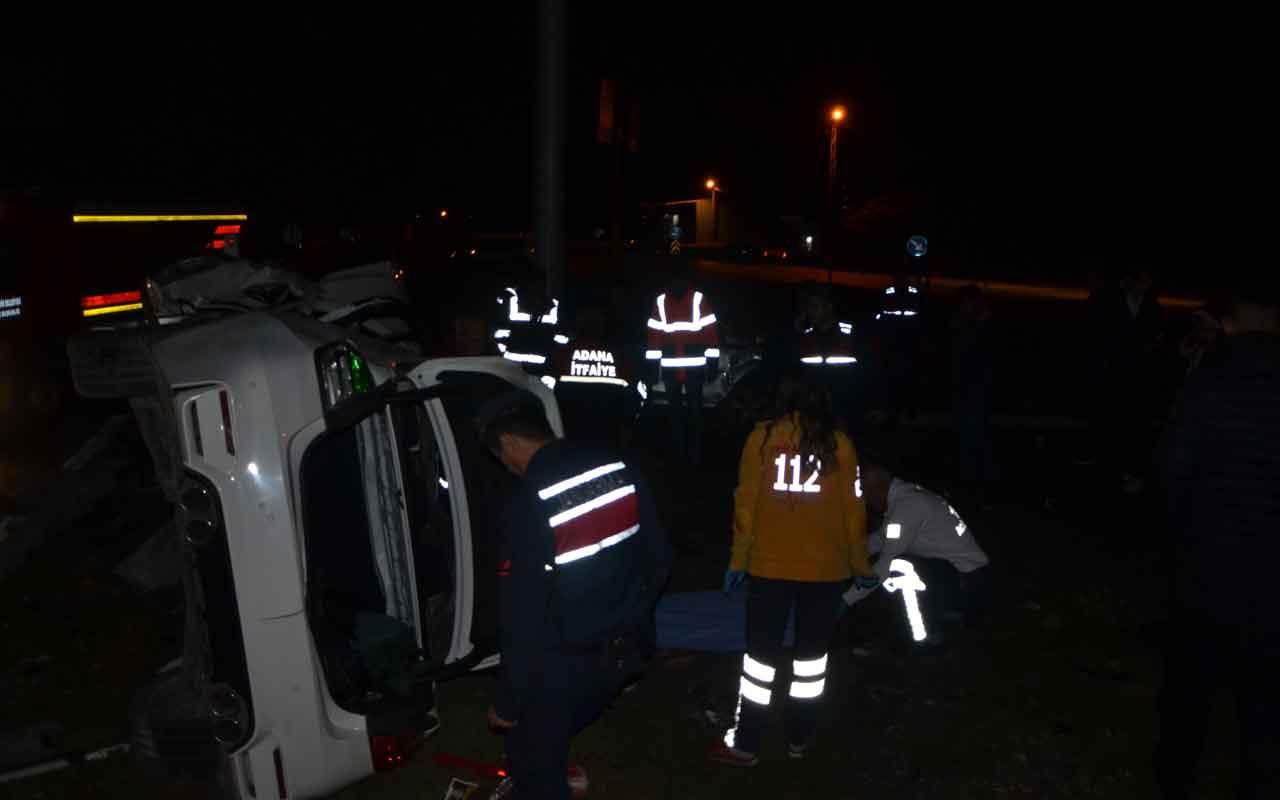 Kozan'da trafik kazası: 1 ölü, 4 yaralı
