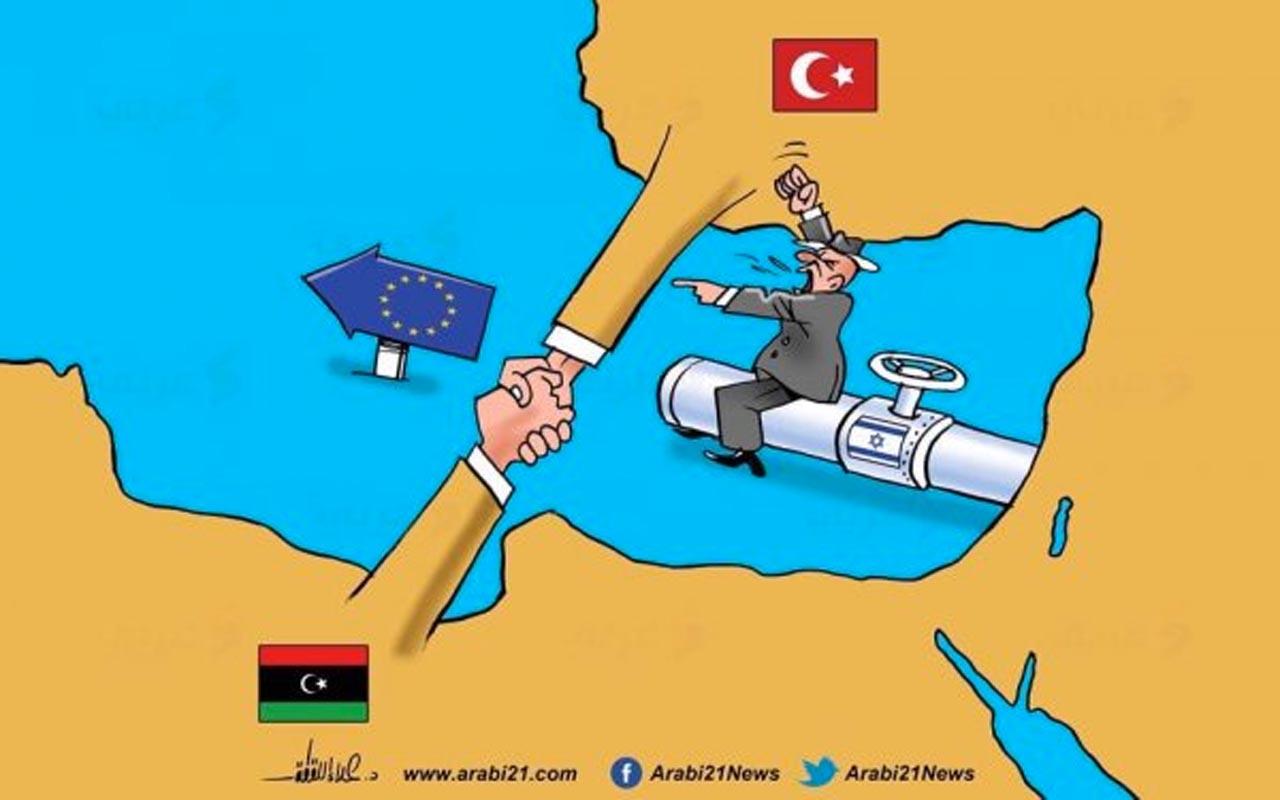 Arap karikatüristin Türkiye Libya anlaşmasının karikatürü sosyal medyada olay oldu