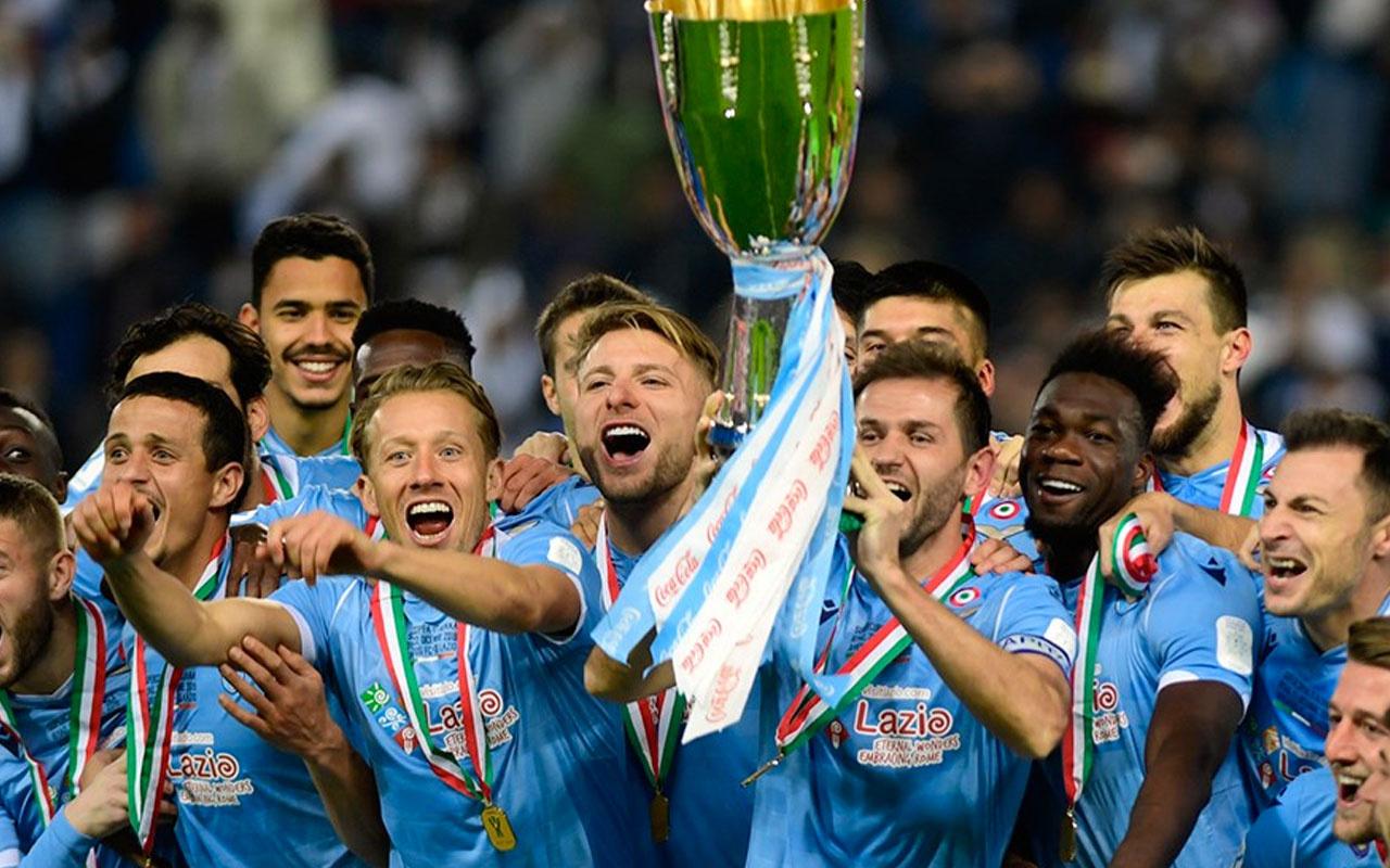 Lazio Juventus'u devirdi İtalya Süper Kupası'nı kazandı