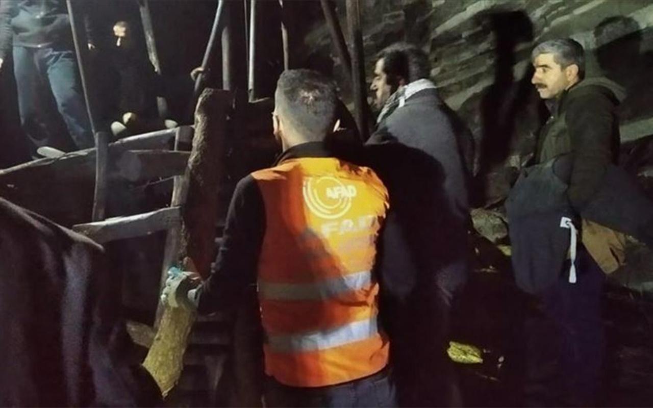Şırnak'ta ruhsatsız kömür ocağında göçük Bir kişi toprak altında kaldı