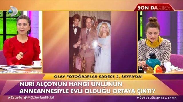 Nuri Alço Fulden Uras'ın anneannesiyle evlenmiş 45 yıl sonra ortaya çıktı