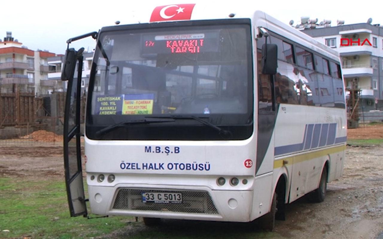 Mersin'de otobüs şoförüne cep telefonu dayağı