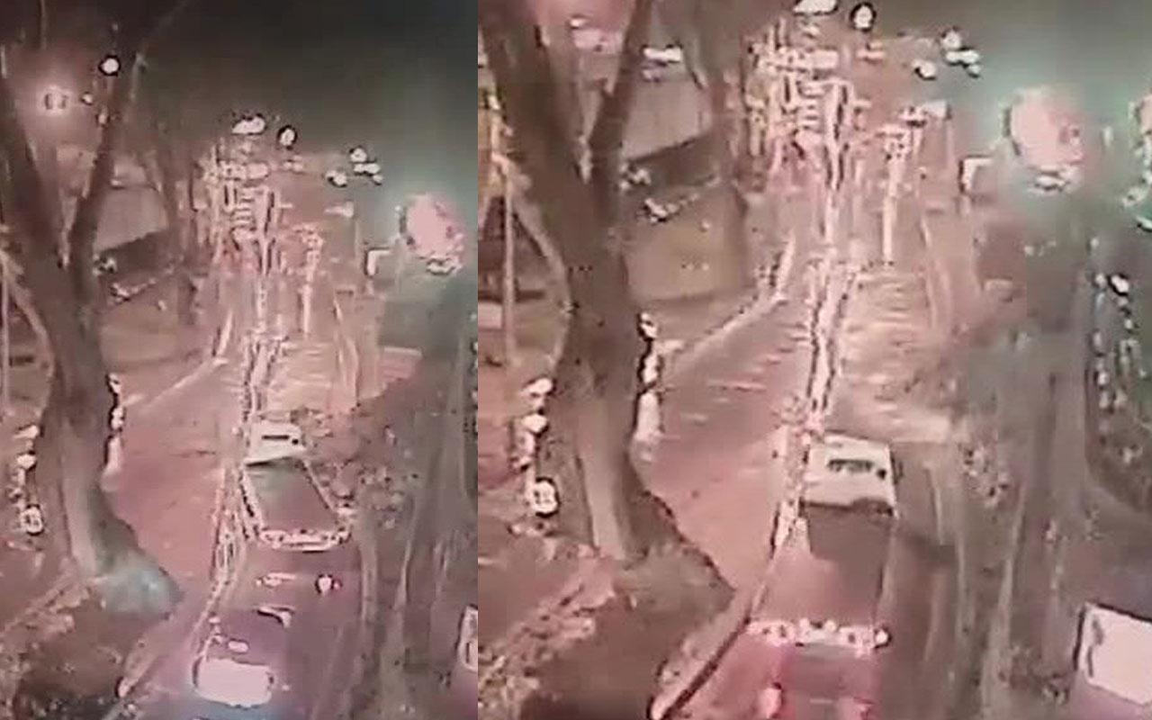 Sarıyer'de istinat duvarının yıkılma anı kamerada