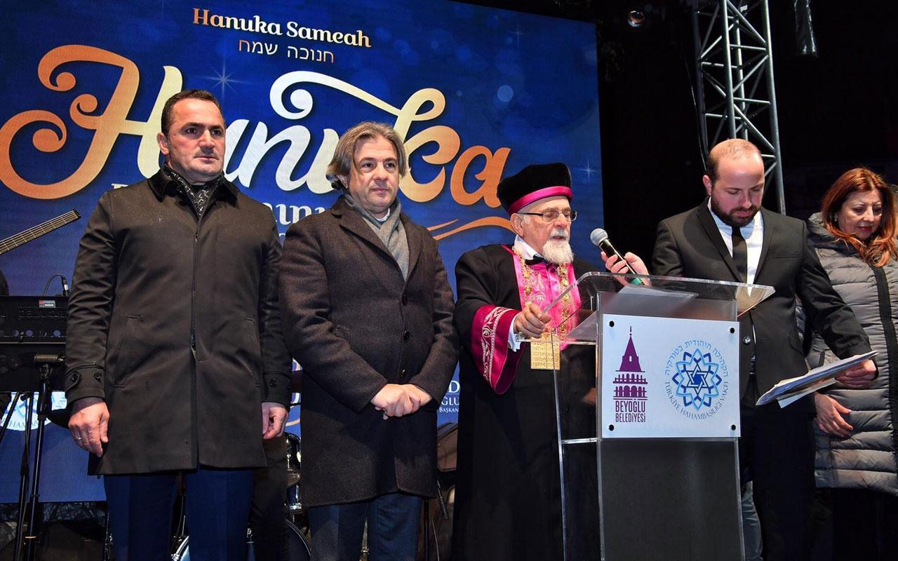 Beyoğlu'nda 'Hanuka Bayramı' kutlandı