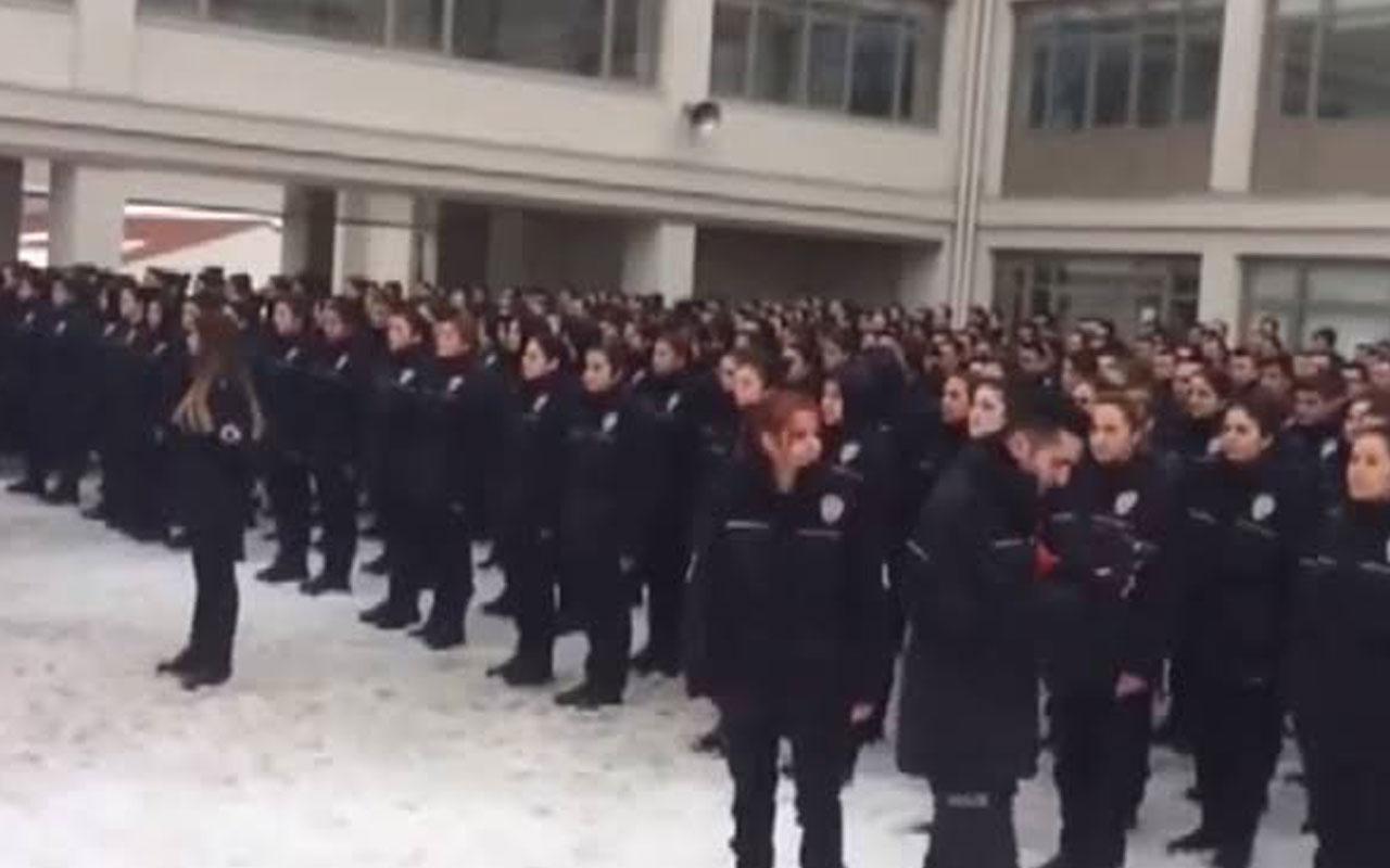 Tepki çeken intikam yemini videosu! Polis Akademisi Başkanlığı'ndan açıklama geldi