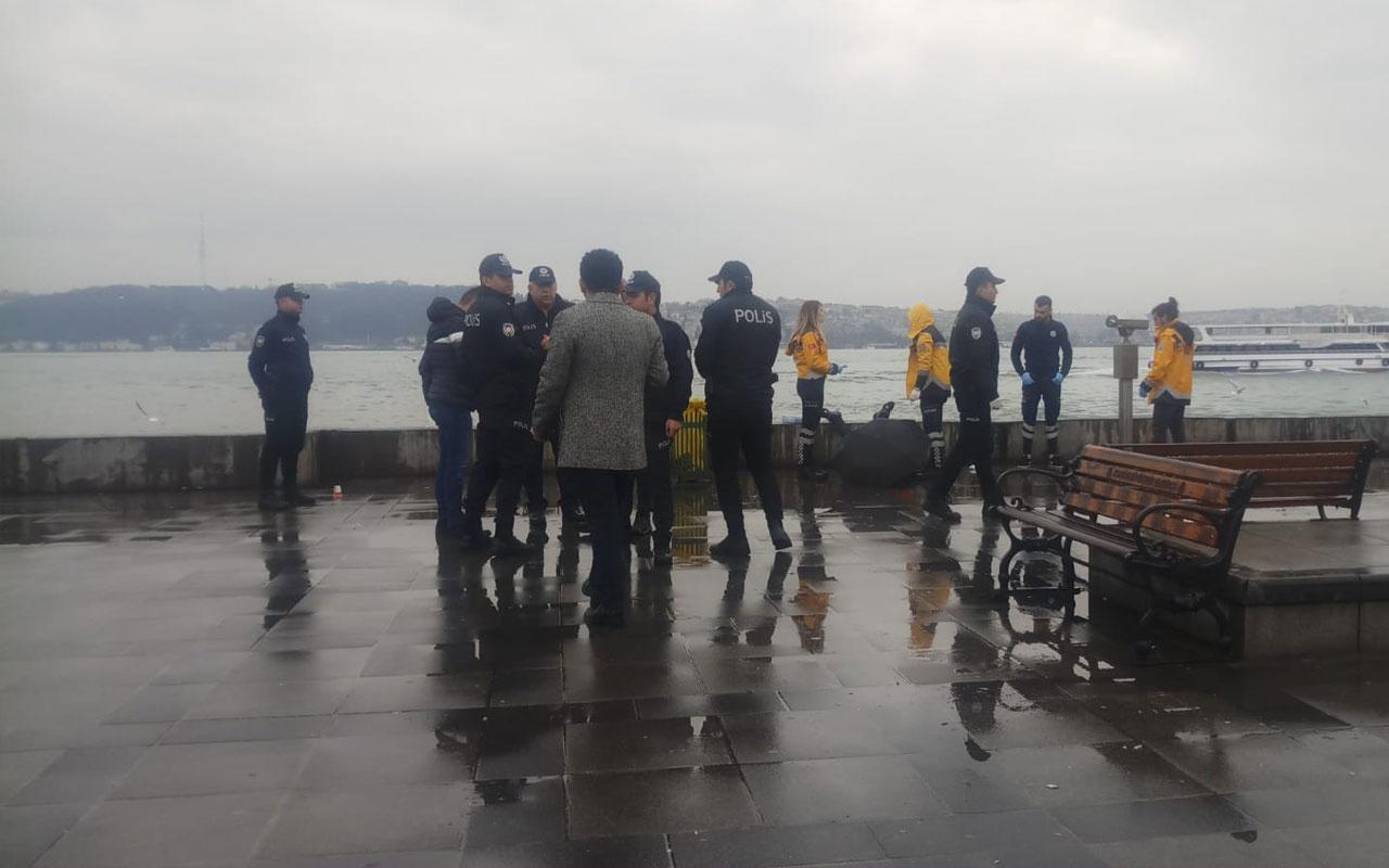 Beşiktaş sahilinde herkesin gözü önünde intihar etti