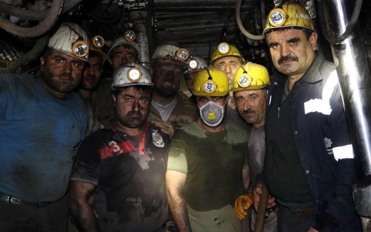 Yeni yıla yerin metrelerce altında maden ocağında çalışarak girdiler