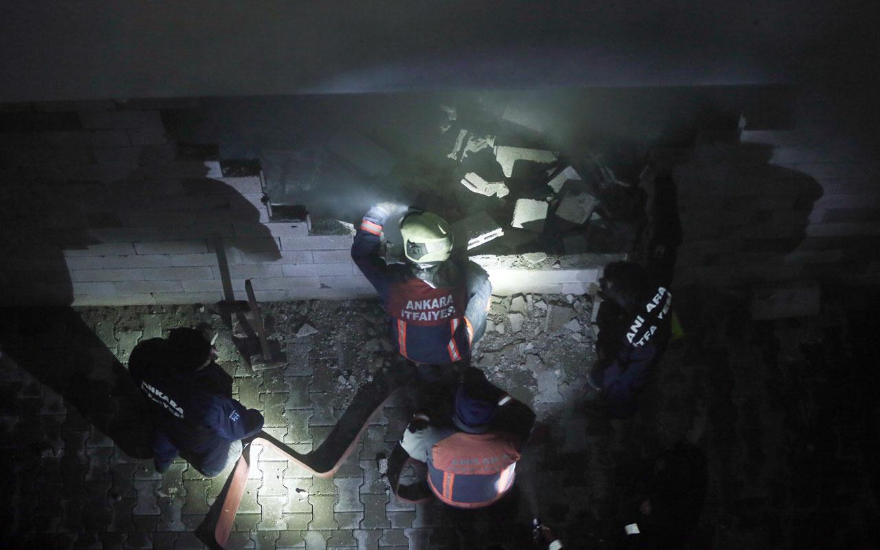 Ankara'da 13 katlı binada yangın paniği