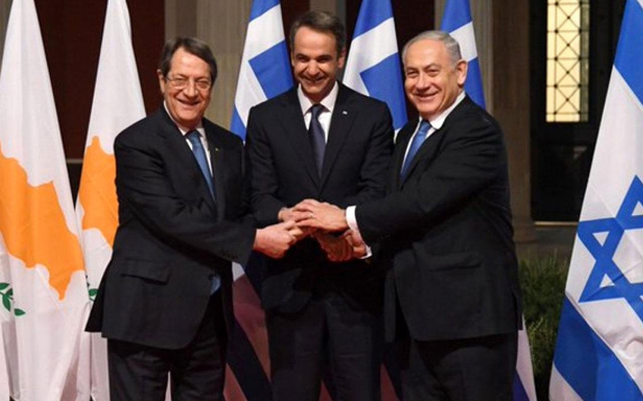 Akdeniz'de İsrail, Yunanistan ve Güney Kıbrıs'tan Türkiye'ye karşı ittifak!