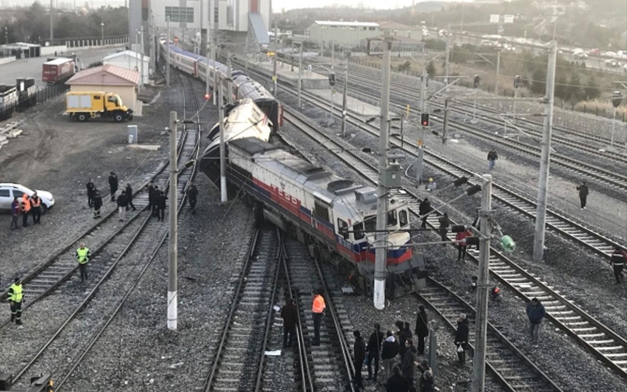 Ankara'da boş tren raytan çıktı!