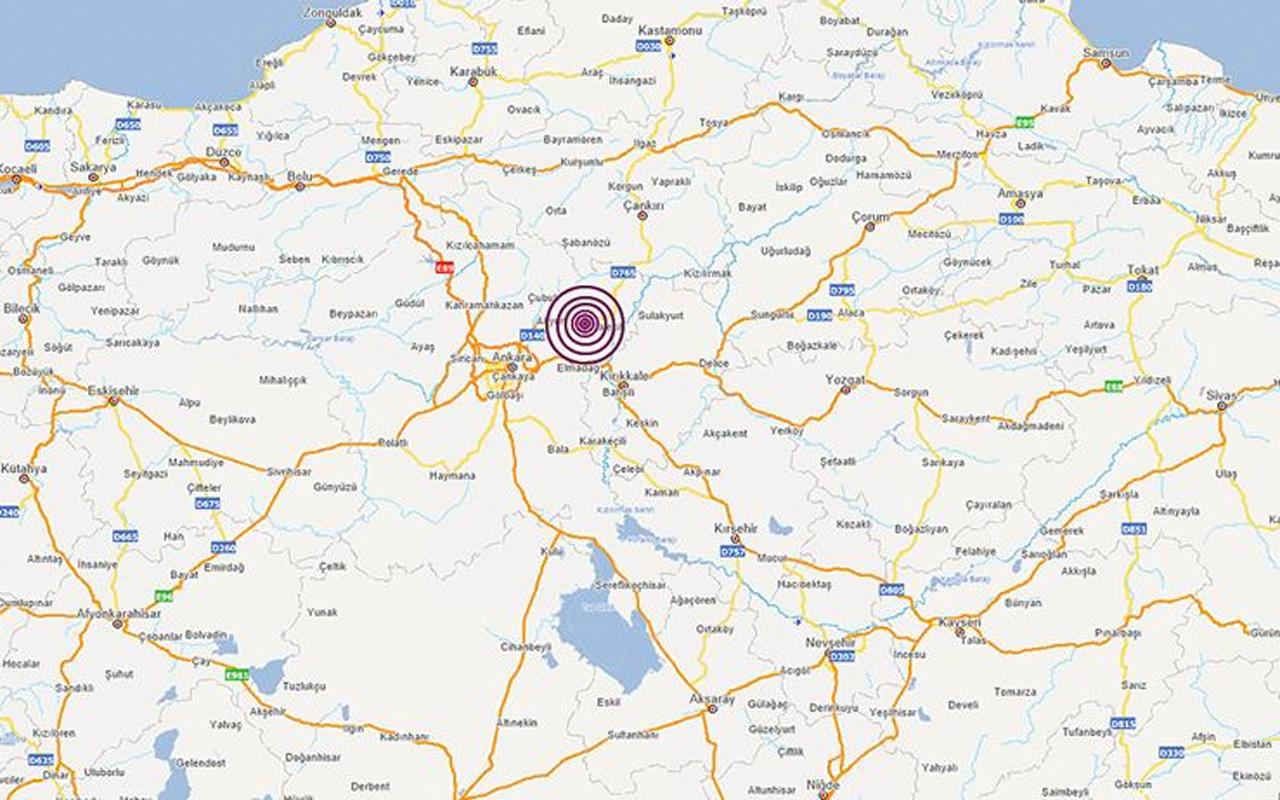 Ankara'da deprem oldu! AFAD depremin büyüklüğünü açıkladı