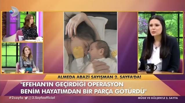 Almeda Abazi Tolgahan Sayışman'ın bebekleri ameliyat oldu gözyaşlarına boğuldu