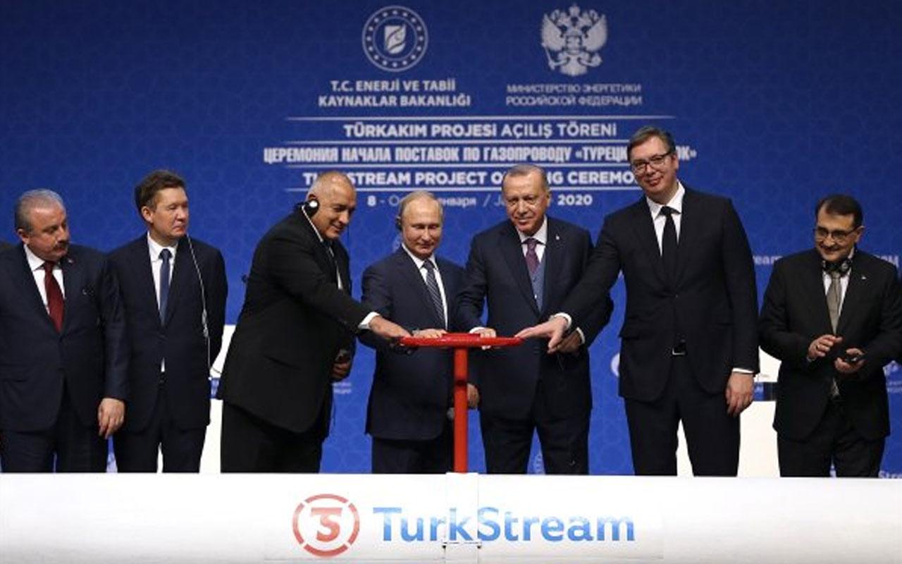 Ve TürkAkım'da vanalar açıldı! Törende Erdoğan ve Putin'den önemli açıklamalar
