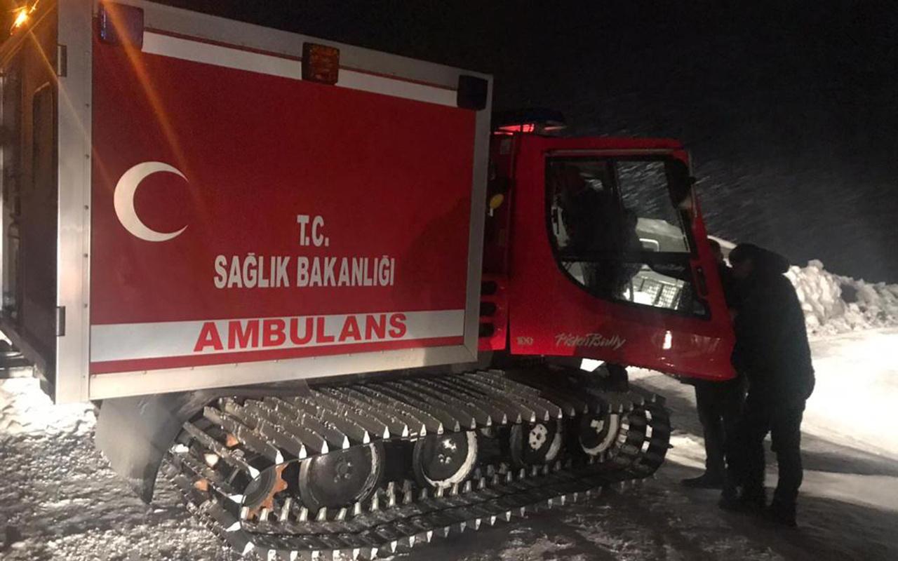 Bitlis'de ayılara yem bırakmaya giden ekibi taşıyan araç kara saplandı