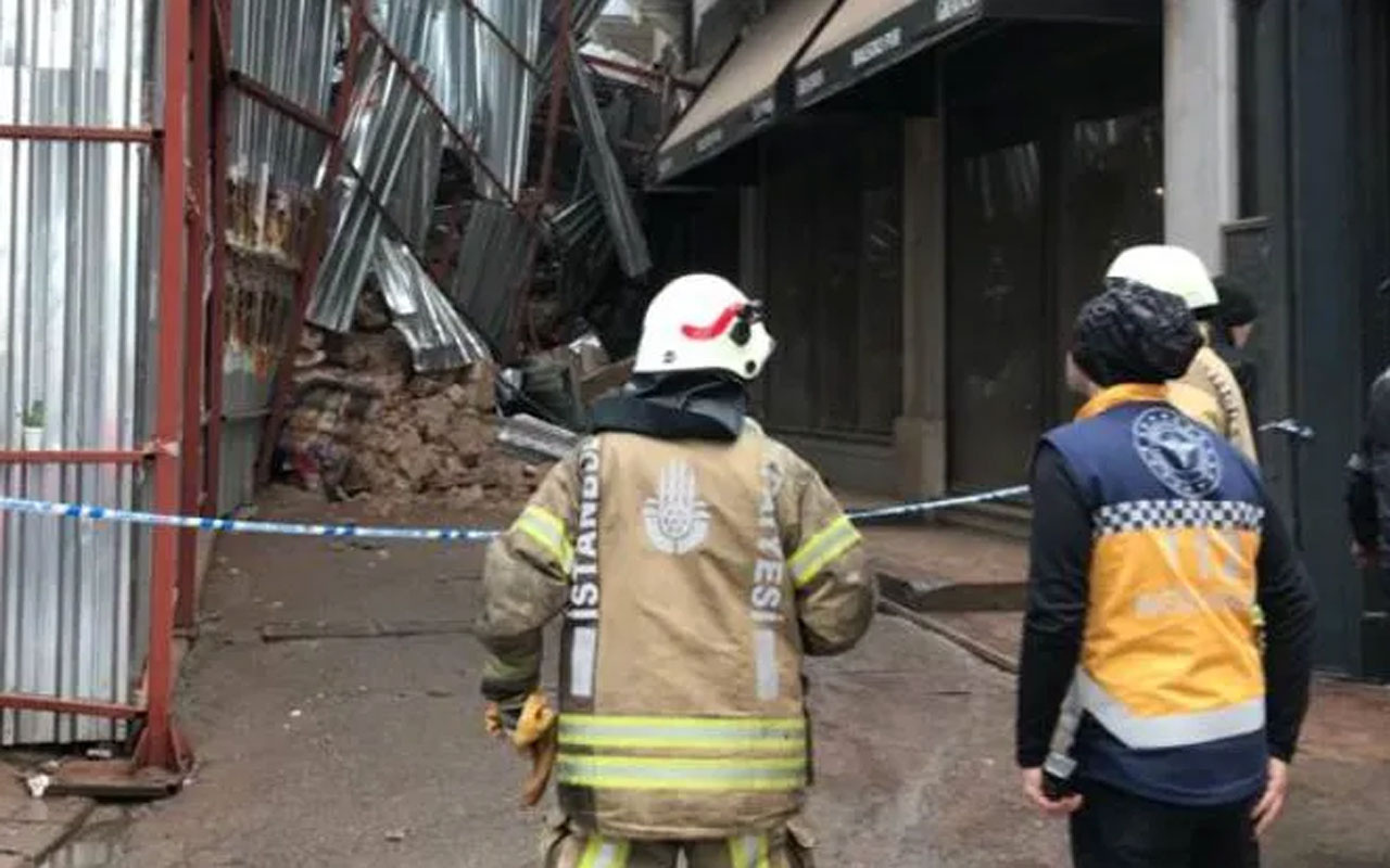 Beyoğlu Asmalımescit'te bina çöktü! Sağlık polis ve itfaiye ekibi sevk edildi