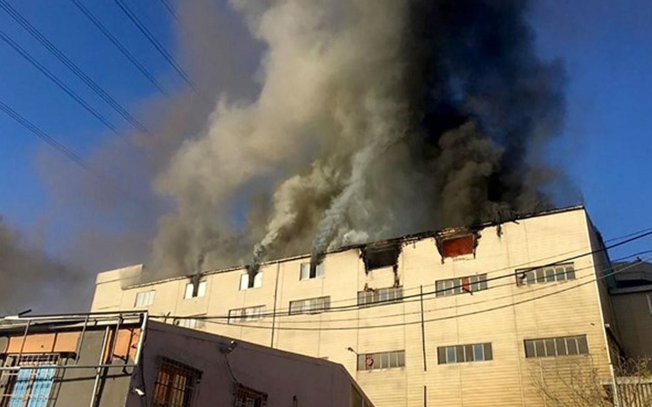 Başakşehir'de tekstil atölyesinde korkutan yangın