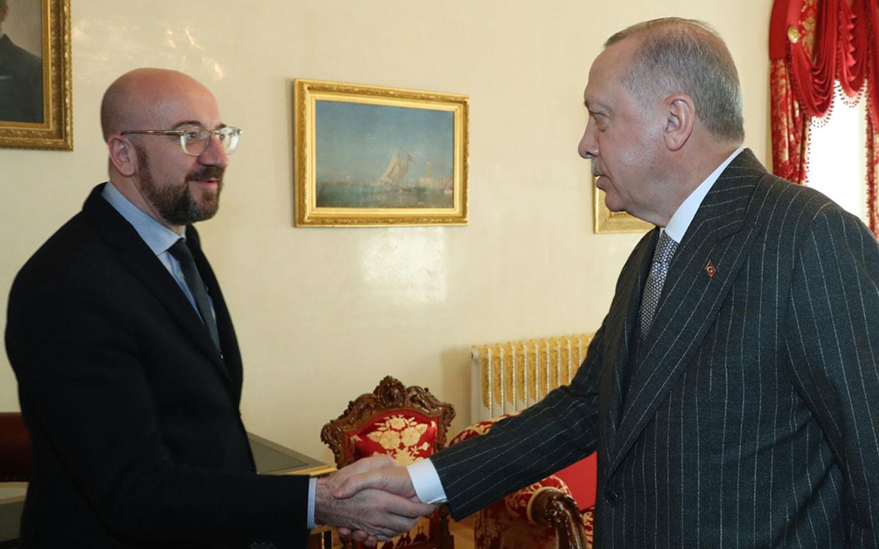 AB Konseyi Başkanı Michel'in görüşmede 'endişeliyiz' sözüne Erdoğan'dan sert cevap