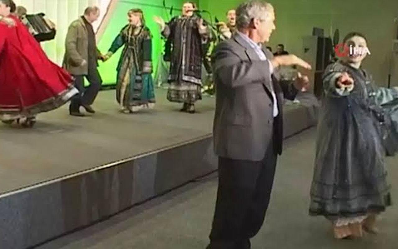Putin ile Bush'un birlikte dans ettiği görüntüler sosyal medyayı salladı