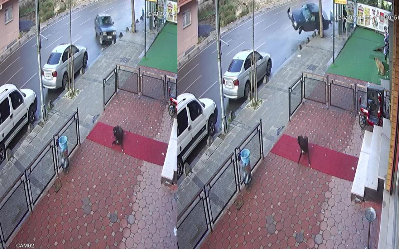 Sancaktepe'de film sahnelerini aratmayan kaza kamerada