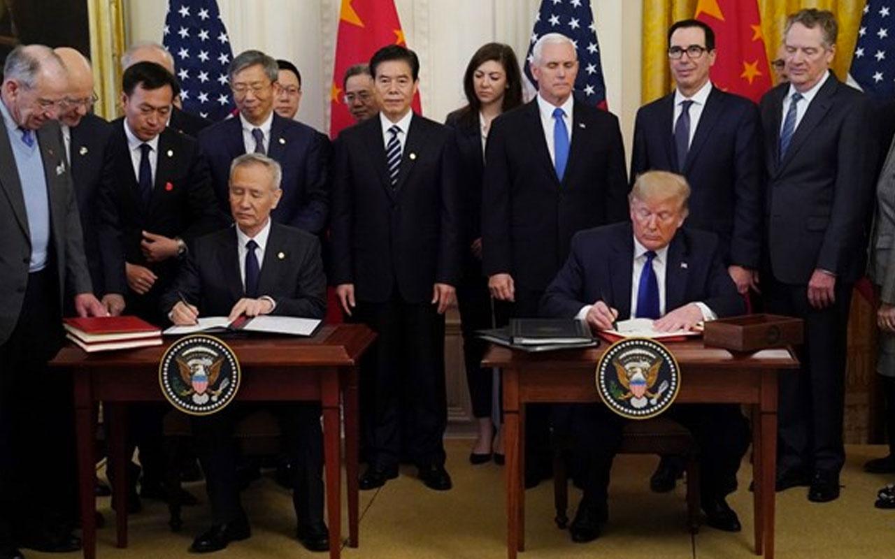 ABD-Çin ticaret savaşını bitiren imzalar atıldı