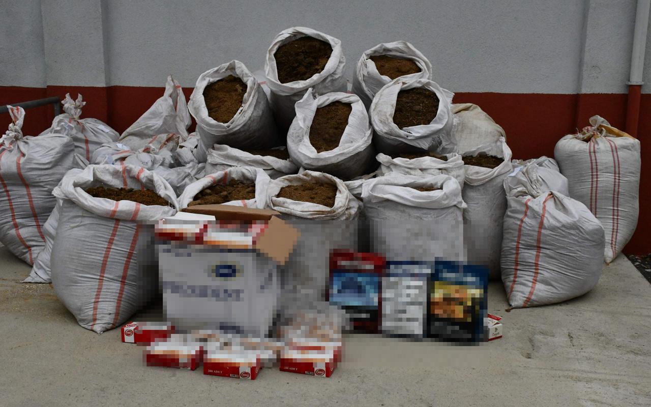 Tekirdağ'da 1 ton kaçak tütün ele geçirildi