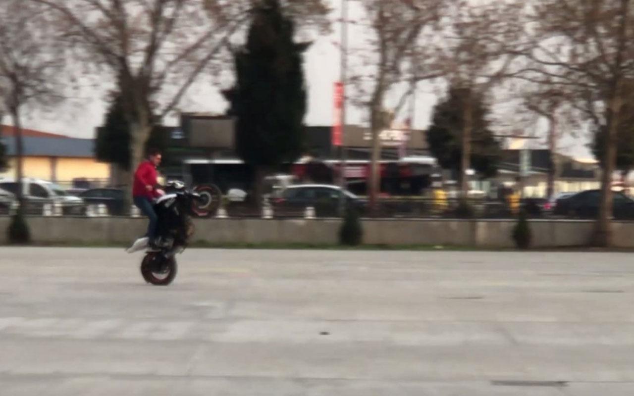 Motosikletli magandalar insanların hayatını hiçe saydılar
