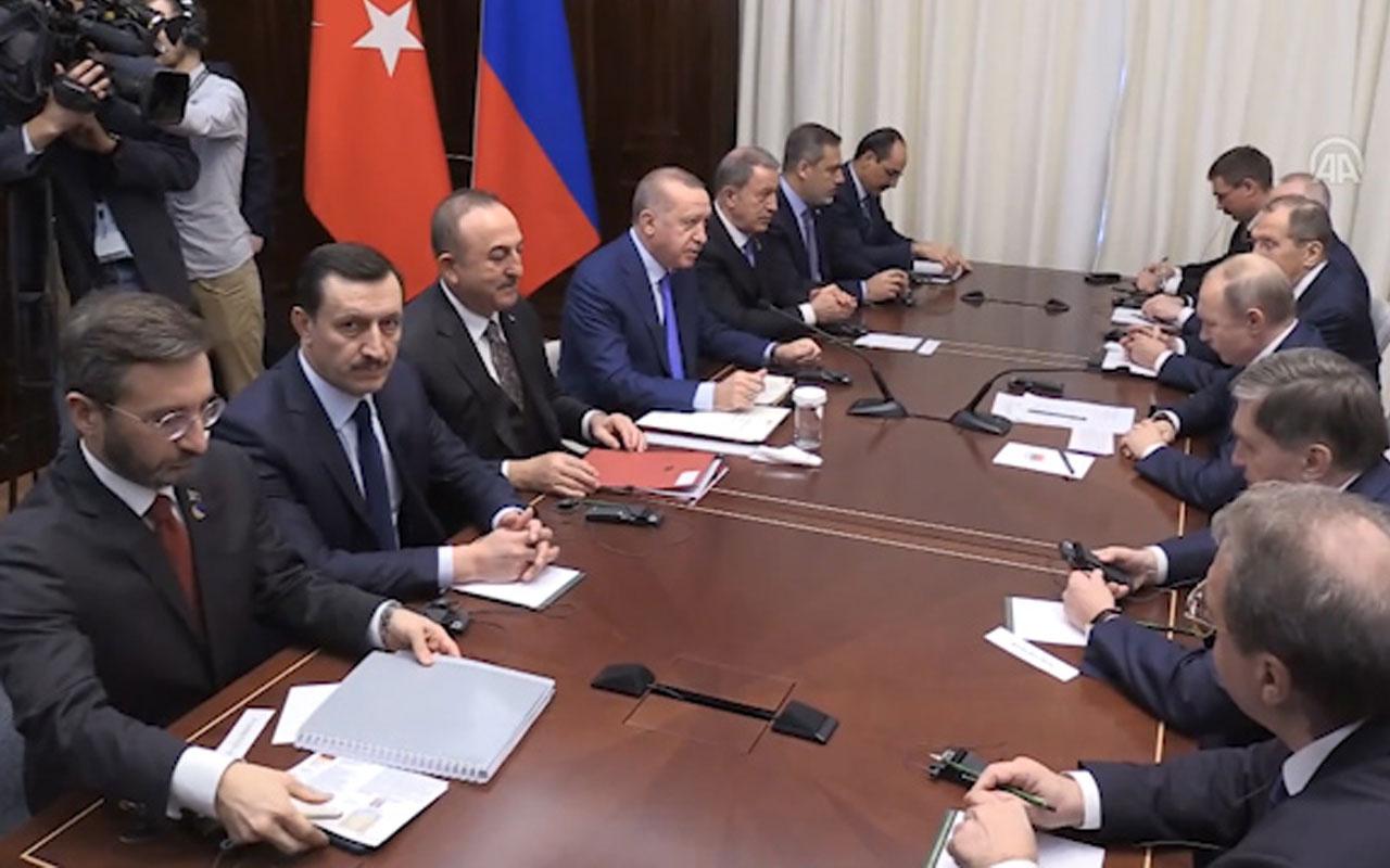 Berlin'de Cumhurbaşkanı Erdoğan ve Putin görüşmesi sona erdi