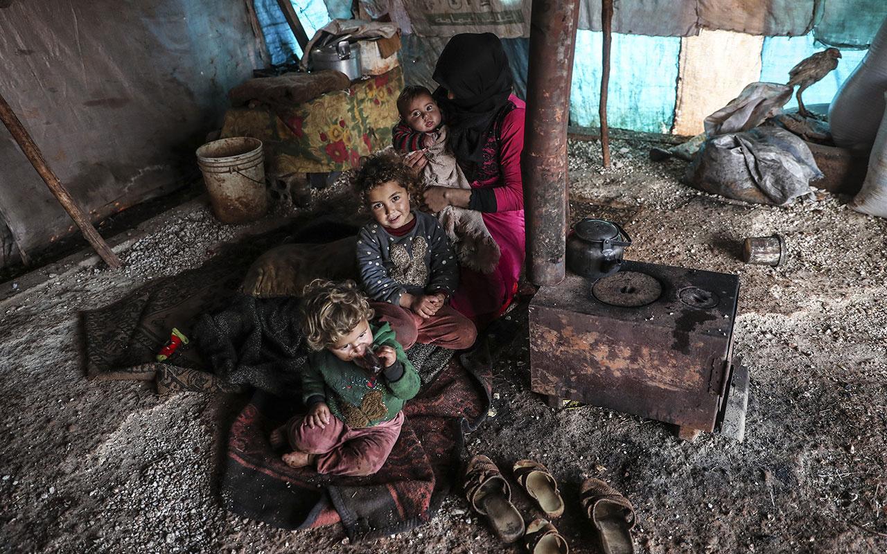 İdlib'den göç eden ailelere Erdoğan'dan yardım eli
