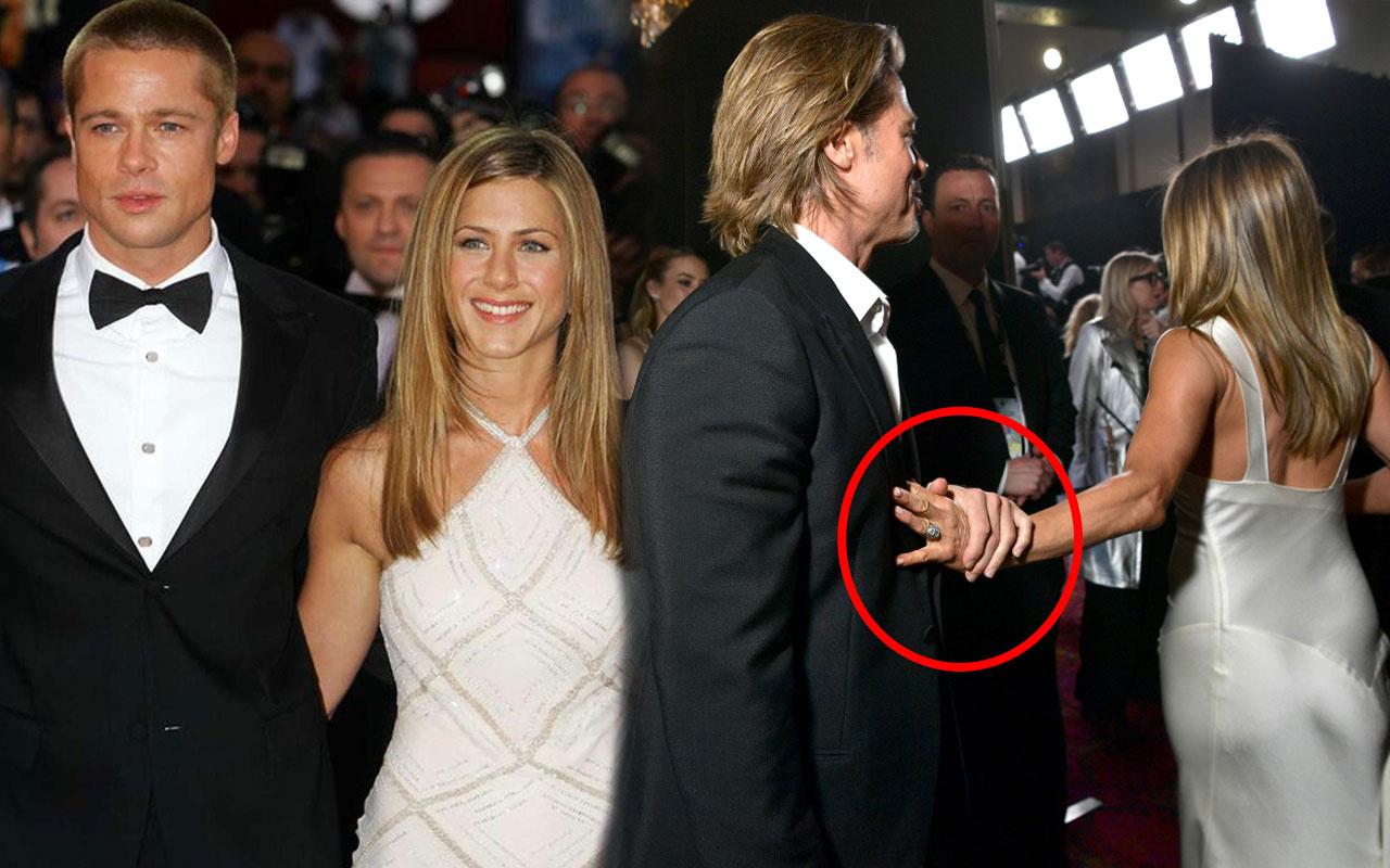 Brad Pitt Jennifer Aniston sarmaş dolaş yakalandı Angelina Jolie ile aldatmıştı