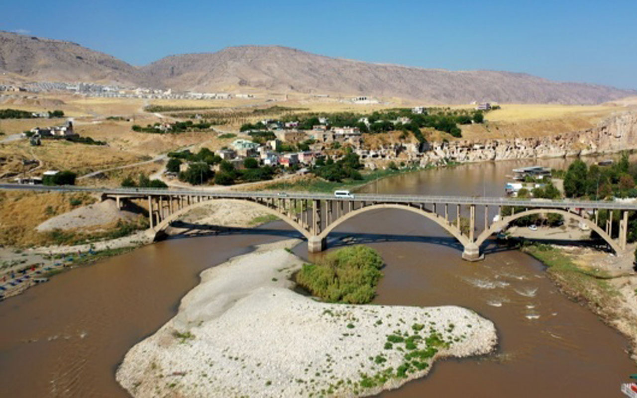 Batman'da tarihi Hasankeyf'te sular yükselmeye başladı! İşte son hali